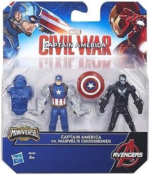 Hasbro - Pack figuras equipo contra equipo capitán américa civil ...