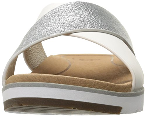 Slides Multicolore Australia Kari Women's Ugg Silver Leather wqASx1AXf