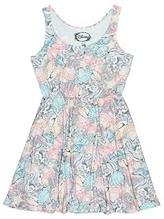 Disney The Little Mermaid Ariel Print Dress (X-Small)