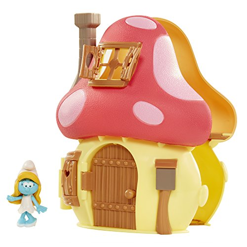 - Smurfs The Lost Village Movie Mushroom House Playset with Smurfette Figure
