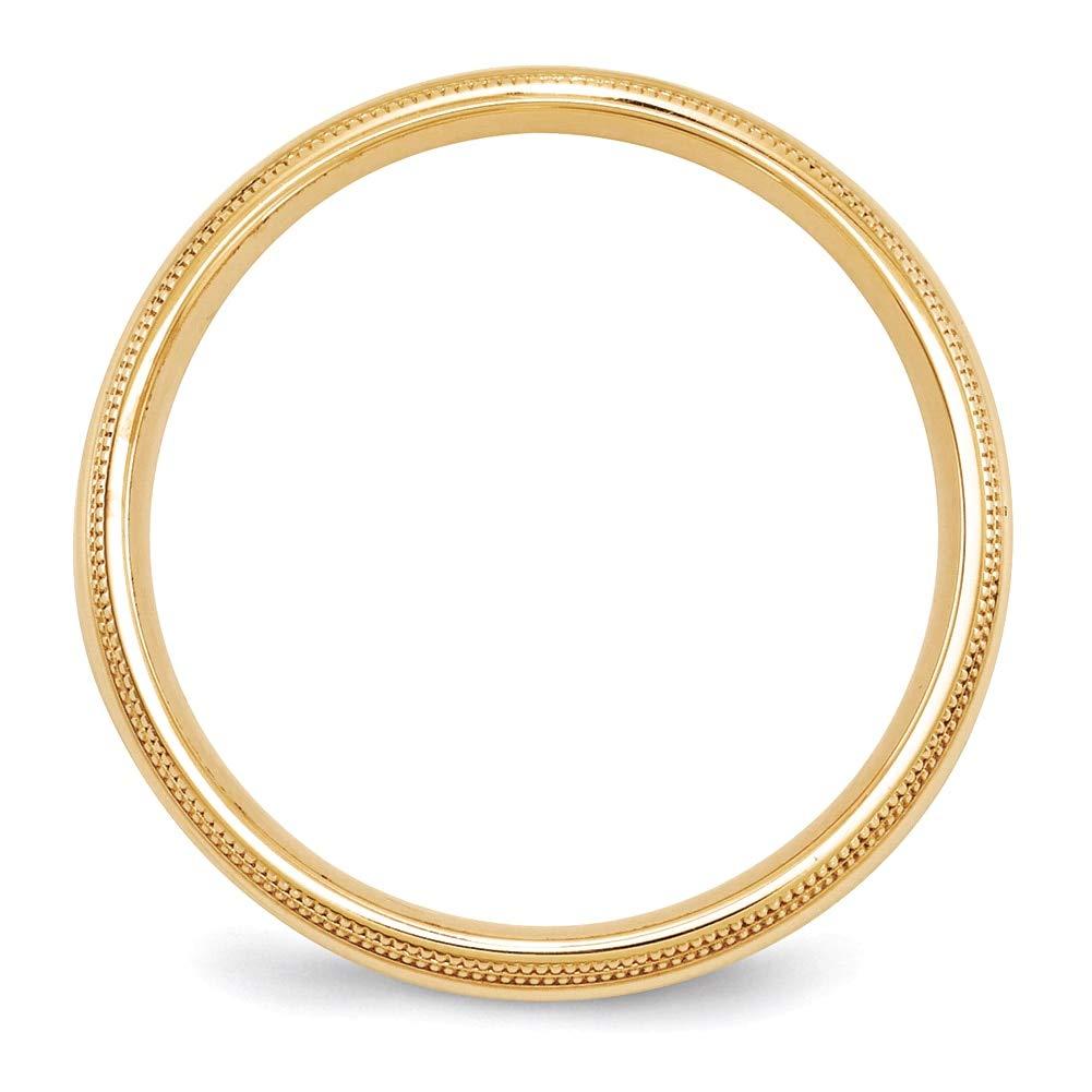 Lex /& Lu 14k Yellow Gold 5mm Double Milgrain Comfort Fit Band Ring