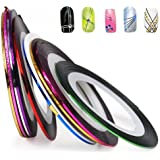 Nail Art Striping Tape Line Decoration pack of 10 rolls from Easy-go