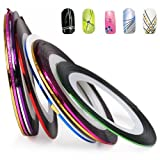 World Pride Nail Tape Stripe Decoration Sticker Hologram Set of 10