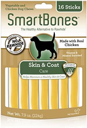 Dog Treats: SmartBones Skin & Coat