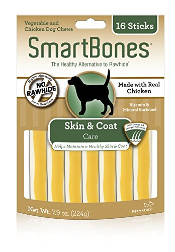 SmartBones Chicken Dog Chews Skin Coat (16 Sticks)