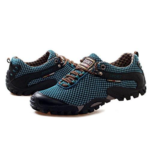 CHT Muchachos Estaciones Deportivas Al Aire Libre Zapatos Para Caminar De La Multicolor Múltiples Dimensiones Blue