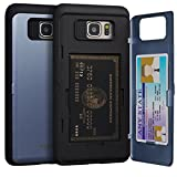 Galaxy Note 5 Case, TORU [Slim Hard Wallet Case] Card Holder ID Slot Protective Dual Layer Cover with Hidden Storage Compartment & Mirror for Samsung Galaxy Note 5 - Orchid Gray