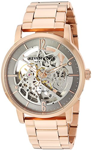(Kenneth Cole New York Male Automatic-self-Wind Watch with Rose Gold Strap, Stainless Steel, 22 (Model: KC50054003))
