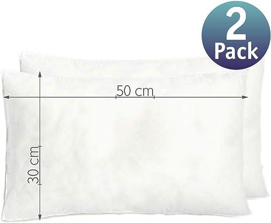 Relleno cojín 30x50 | Relleno Almohada. Relleno de Fibra Hueca, hipoalergénico, indeformable y Lavable. 100% poliéster. Varias Medidas. (30 x 50 / Pack 2): Amazon.es: Hogar