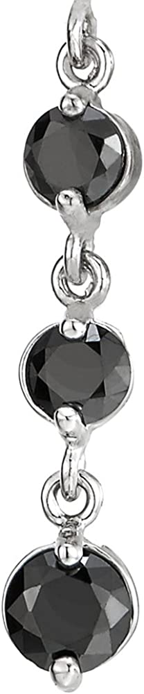 Belly Chain Belly Button Ring Jewelry Piercing Navel Ring with Long Dangle Black Cubic Zirconia CA