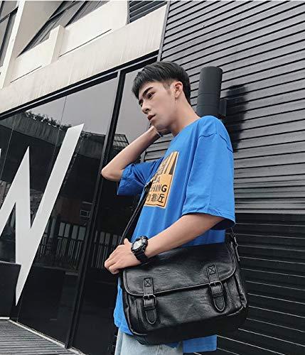 Mensajero Cuero la antirrobo de Business Bolso de Gran Moda Bolsas Negro de Messenger Bolso Mensajero de de Mensajero Crossbody Bags de ZHRUI Capacidad qZgwx7nnz