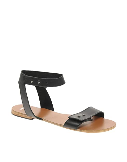 Sandalias Negro De 38 Uk Para 5 Asos 6 Vestir Frisk Mujer CPxw5Z