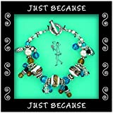 Just Because Charm Bracelets and Assorted Charms - Create a Charm Bracelet! (Turqouise-Bracelet)