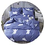 Cartoon Home Winter 3 4Pcs Bed Sheet Duvet Cover Set Pillowcase Without Comforter,Fluid,Full Cover 150by200