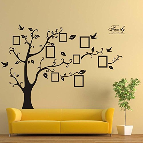 Wall StickersGOODCULLER 180250cm 3D DIY Photo Tree PVC Wall Decals Adhesive Wall Stickers Mural Art Background Decorated Decal Home Decor