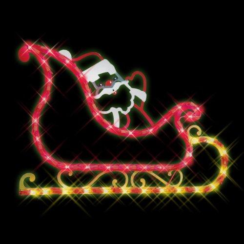 amazoncom impact innovations christmas lighted window decoration sleigh home kitchen - Christmas Window Decorations Amazon