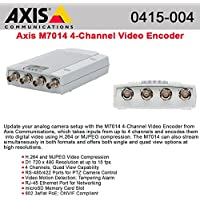AXIS 0415-004 Four-channel video encoder. Dual streaming H.264 and Motion JPEG on all channels. Max D1 resolution at 15 (NTSC/PAL) fps on all streams.