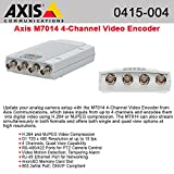 Axis Communications M7014 4-Channel Video Encoder, Dual Streaming H.264 and Motion JPEG, Maximum D1 NTSC/PAL Resolution, 15fps Frame Rate, PoE, PTZ Support, Edge Storage