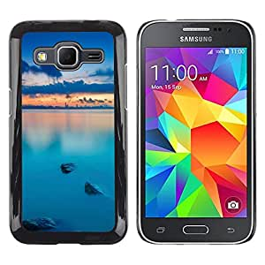MOBMART Carcasa Funda Case Cover Armor Shell PARA Samsung Galaxy Core Prime - Beautiful Wide Vast Ocean At Dawn
