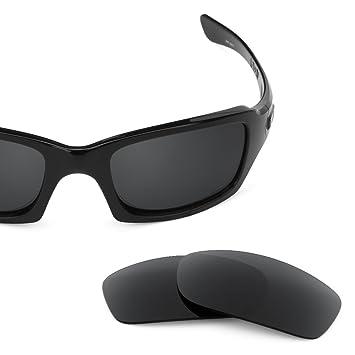 SURE Basic Lentes de Recambio Polarizadas Negro Espejo para Oakley Five Squared 3.0