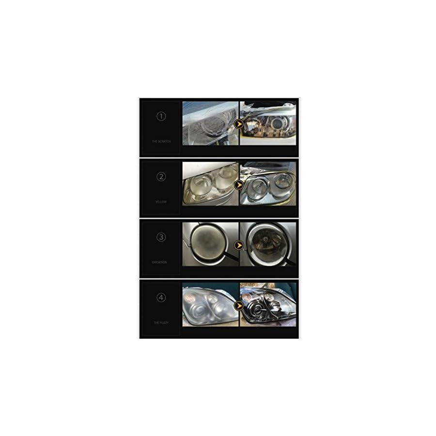 Staron Ceramic Car Coating Kit, New Car Headlights Oxidation Liquid Ceramic Coat Super Hydrophobic Glass Coating
