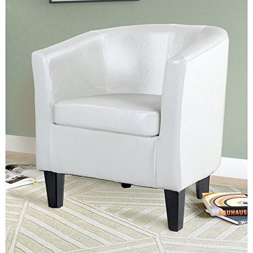 Corliving - Antonio Tub Chair - White