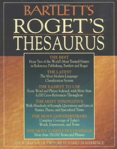 Bartlett's Roget's Thesaurus New Scrabble Dictionary