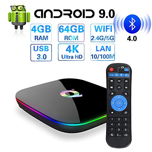 Android TV Box 10.0, T95 Android TV Box with 4GB Ram 64GB ROM Quad-Core CPU, Support 2.4G/5G Dual WiFi/BT5.0/H.265/6K…