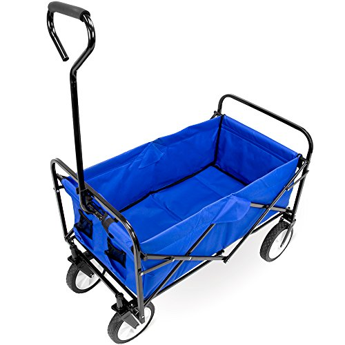 Cheapest Price! Knack Folding Collapsible Folds Down To Just Utility Wagon, 8, Blue