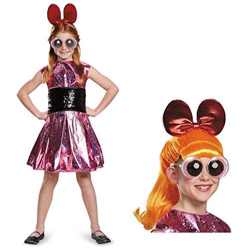 Powerpuff Girls Blossom Deluxe Child Costume Bundle Set - Medium (Blossom Powerpuff Girl Costume)
