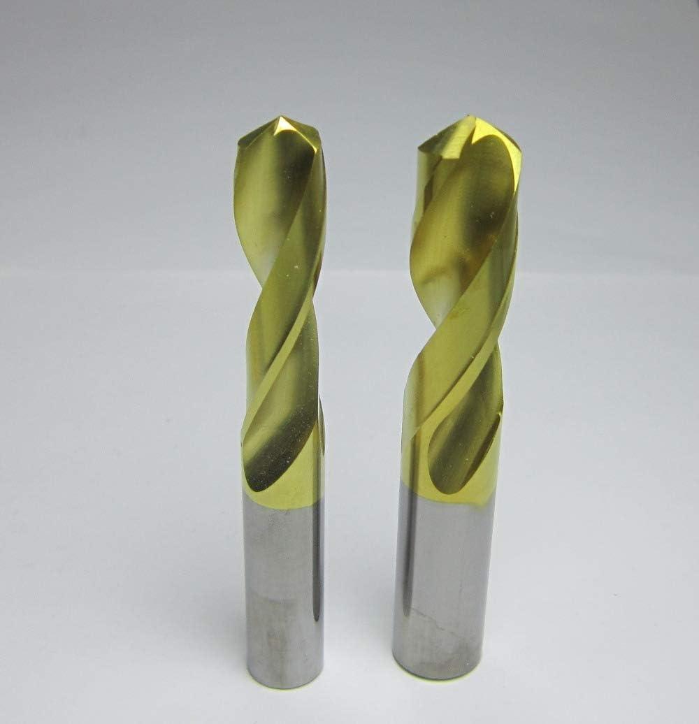 2PCS 10MM 12mm L=75mm Micro grain solid Tungsten carbide Twist Drill CNC machine Carbide USA Drill bits For Metal working