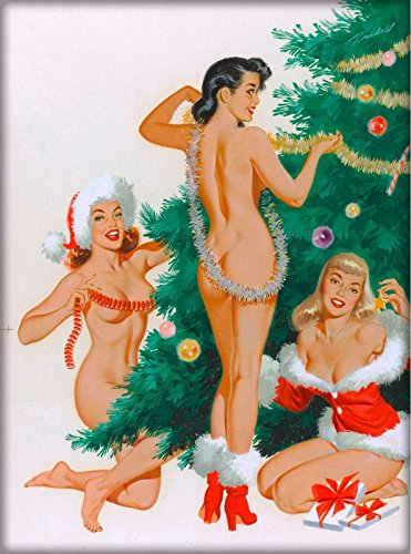 - MAGNET 1940s Pin-Up Girl Jingles, Joy & Merry Picture Magnet Print Vintage Art Pin Up