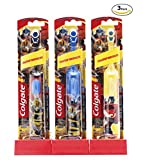 Colgate Kids Power Toothbrush, Transformers, Yellow, Black and Blue - Optimus Prime & Bumble Bee (3 Pack (Fixed Color)
