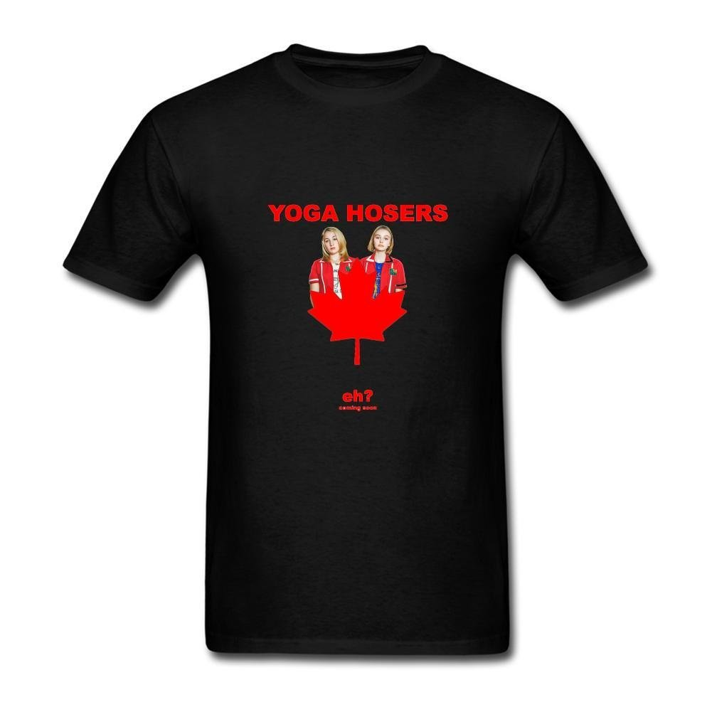 Amazon.com: XIULUAN Mens Yoga Hosers Comedy Film T-shirt ...