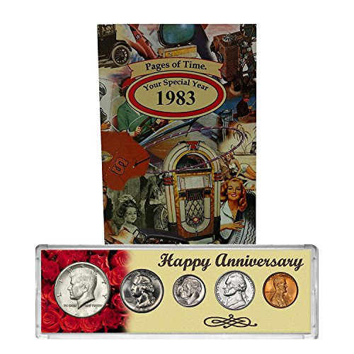 1983 Year Coin Set and Greeting Card : 35th Anniversary - Happy Anniversary