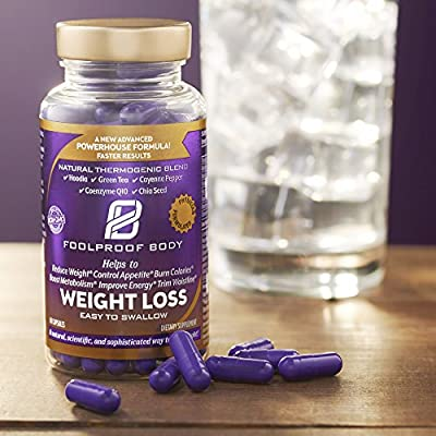 FOOLPROOF BODY Weight Loss - Reduce Weight, Control Appetite, Burn Calories & Boost Metabolism (60 Capsules)