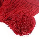Zainafacai Cute Baby Kids Girl Boy Dual Balls Warm Winter Crochet Knitted Cap Hat Beanie Caps (D)