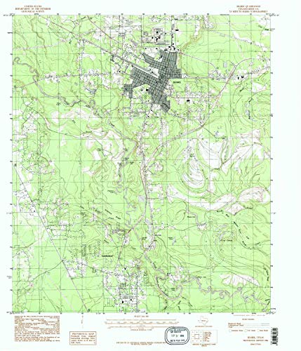 YellowMaps Silsbee TX topo map, 1:24000 Scale, 7.5 X 7.5 Minute, Historical, 1984, Updated 1985, 27 x 23.2 in - Paper