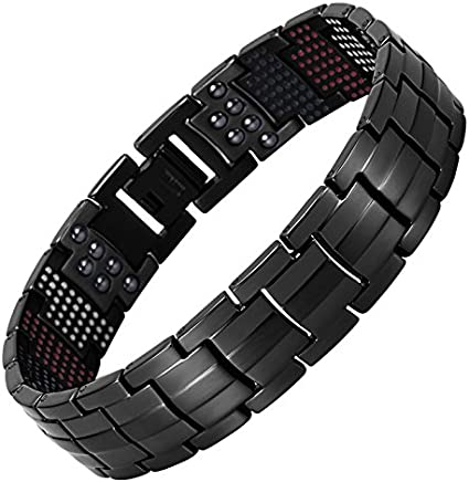 Titanium Steel Magnetic Therapy Energy Bracelet Pain Relief Weight Loss Bangle