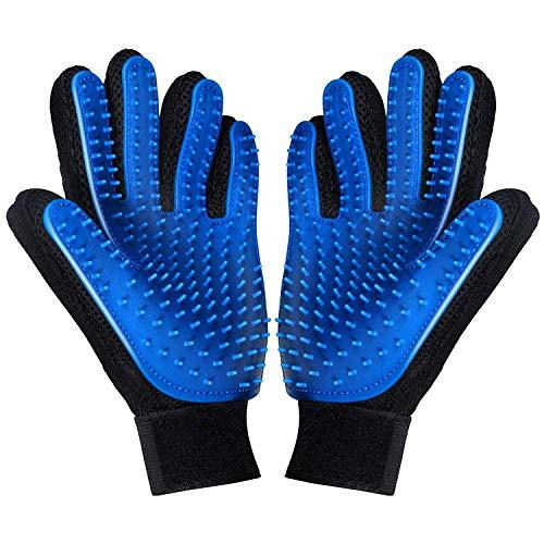 V-shine Pet Grooming Glove Efficient Pet Hair Remover Mitt Gentle Deshedding Brush Gloves Enhanced Five Finger Design…