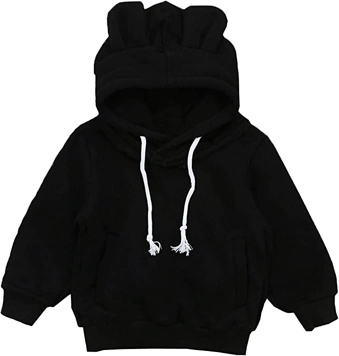 Staron  Baby Hoodies Infant Boys Girls Plaid Hooded Sweatshirt Pockets Tops Coat