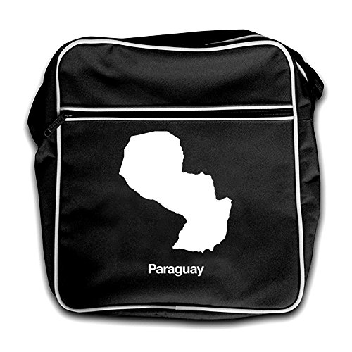 Bag Black Paraguay Silhouette Paraguay Red Retro Bag Flight Flight Silhouette Retro 188TqF