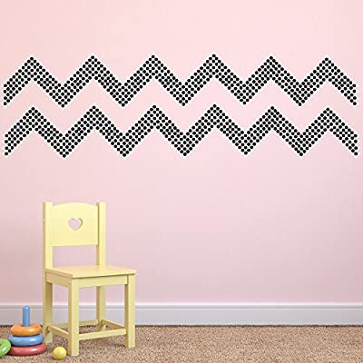 "(260) 1"" Black Polka Dot Decals - Removable Peel and Stick Circle Wall Decals for Nursery, Kids Room, Mirrors, and Doors"