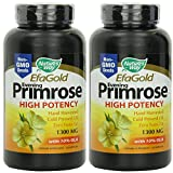 Evening Primrose 1300 mg – Nature's Way – 120 Softgels – Pack of 2