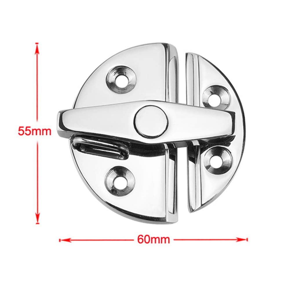 SAXTEL Buckle Door Clasp For Yacht Round Door Clasp Boat Hardware Cabin Portable Corrosion Resistant Durable Hatch Lock Box Stainless Steel Accessories