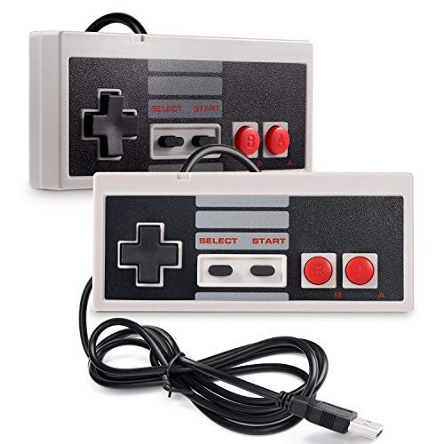 2 Packs Classic USB wired Controller for NES Gaming, NES Game Controller, PC USB Controller Retro Gamepad Joystick for Windows PC Mac Linux RetroPie NES Emulators (Teenage Mutant Ninja Turtles Nes Game Platforms)
