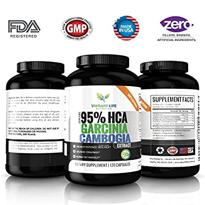 Vibrant Life Nutrition Garcinia Cambogia Weight Loss Pills 1400mg - 120 Capsules