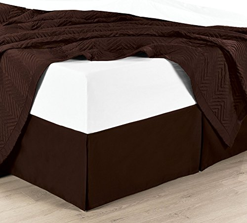 chocolate bed skirts queen size - 2