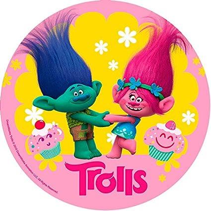 Generique - Disco ácimo cumpleaños Trolls 20 cm: Amazon.es ...