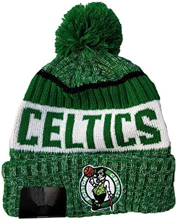 Qdkva Winter Sport Knit Beanie Knitted Hat, Fashion Basketball Cuffed Knit Cap Embroidery Logo Hats